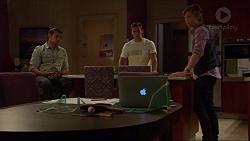 Nate Kinski, Aaron Brennan, Daniel Robinson in Neighbours Episode 7243