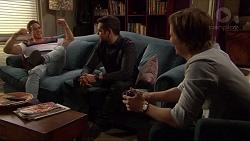 Aaron Brennan, Nate Kinski, Daniel Robinson in Neighbours Episode 7243