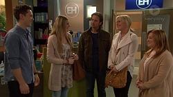 Josh Willis, Amber Turner, Brad Willis, Lauren Turner, Terese Willis in Neighbours Episode 7246