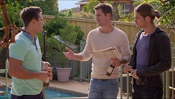 Aaron Brennan, Mark Brennan, Tyler Brennan in Neighbours Episode 7247