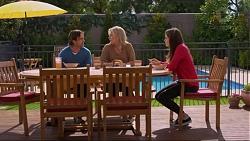 Brad Willis, Lauren Turner, Paige Novak in Neighbours Episode 7248