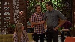 Amber Turner, Aaron Brennan, Nate Kinski in Neighbours Episode 7250