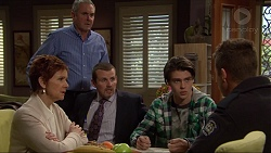 Karl Kennedy, Susan Kennedy, Toadie Rebecchi, Ben Kirk, Mark Brennan in Neighbours Episode 7251