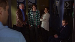 Mark Brennan, Karl Kennedy, Ben Kirk, Susan Kennedy, Toadie Rebecchi in Neighbours Episode 7251