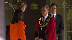Imogen Willis, Daniel Robinson, Paul Robinson, Aaron Brennan in Neighbours Episode 7253