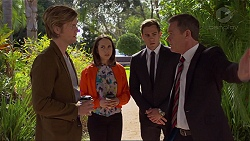 Daniel Robinson, Imogen Willis, Aaron Brennan, Paul Robinson in Neighbours Episode 7253