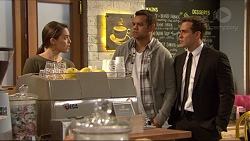 Paige Novak, Nate Kinski, Aaron Brennan in Neighbours Episode 7253