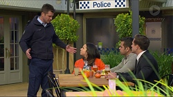 Mark Brennan, Imogen Willis, Nate Kinski, Aaron Brennan in Neighbours Episode 7253