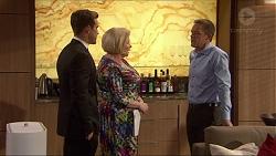 Aaron Brennan, Sheila Canning, Paul Robinson in Neighbours Episode 7254