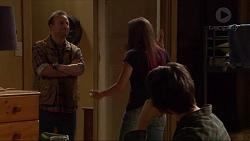 Dennis Cain, Piper Willis, Ben Kirk in Neighbours Episode 7254
