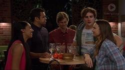 Shay Daeng, Nate Kinski, Daniel Robinson, Kyle Canning, Amy Williams in Neighbours Episode 7255