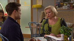 Aaron Brennan, Sheila Canning in Neighbours Episode 7256