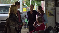 Steph Scully, Tyler Brennan, Aaron Brennan, Amy Williams, Toadie Rebecchi in Neighbours Episode 7257