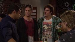 Nate Kinski, Tyler Brennan, Kyle Canning, Daniel Robinson in Neighbours Episode 7258