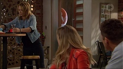 Steph Scully, Sonya Mitchell, Mark Brennan in Neighbours Episode 7259