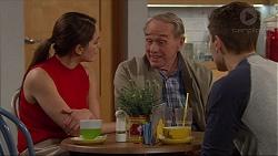 Paige Novak, Doug Willis, Josh Willis in Neighbours Episode 7260