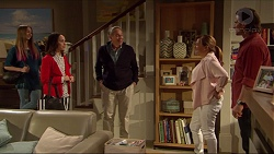 Piper Willis, Imogen Willis, Doug Willis, Terese Willis, Brad Willis in Neighbours Episode 7262