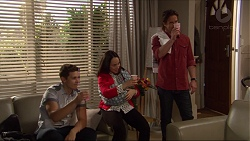 Josh Willis, Imogen Willis, Matilda Turner, Brad Willis in Neighbours Episode 7262