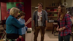 Sheila Canning, Jimmy Williams, Kyle Canning, Amy Williams in Neighbours Episode 7264