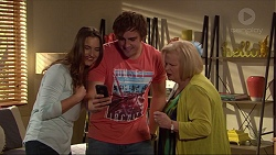 Amy Williams, Kyle Canning, Sheila Canning in Neighbours Episode 7266