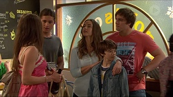 Indiana Crowe, Tyler Brennan, Amy Williams, Jimmy Williams, Kyle Canning in Neighbours Episode 7267