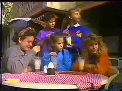 Todd Landers, Emma Gordon, Lucy Robinson, Katie Landers, Charlene Robinson in Neighbours Episode 0768