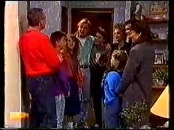 Jim Robinson, Todd Landers, Charlene Mitchell, Scott Robinson, Lucy Robinson, Gail Robinson, Paul Robinson, Katie Landers, Beverly Marshal in Neighbours Episode 0769