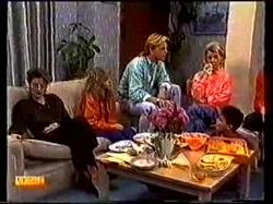 Gail Robinson, Charlene Mitchell, Scott Robinson, Helen Daniels in Neighbours Episode 0769