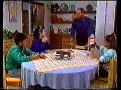 Todd Landers, Lucy Robinson, Jim Robinson, Katie Landers in Neighbours Episode 0769
