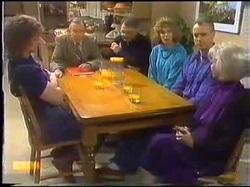 Henry Ramsay, Dan Ramsay, Harold Bishop, Madge Bishop, Jim Robinson, Helen Daniels in Neighbours Episode 0771