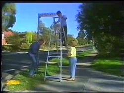 Dan Ramsay, Todd Landers, Katie Landers in Neighbours Episode 0771