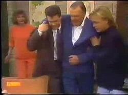 Madge Bishop, Paul Robinson, Dan Ramsay, Scott Robinson in Neighbours Episode 0771