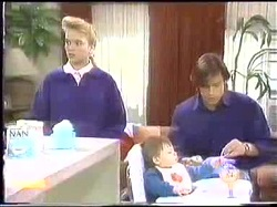 Bronwyn Davies, Jamie Clarke, Mike Young in Neighbours Episode 0774