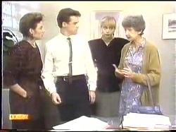 Gail Robinson, Paul Robinson, Jane Harris, Nell Mangel in Neighbours Episode 0774