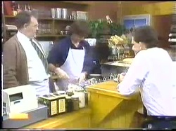 Harold Bishop, Mike Young, Des Clarke in Neighbours Episode 0774