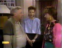 Rob Lewis, Gail Robinson, Gloria Lewis in Neighbours Episode 0869