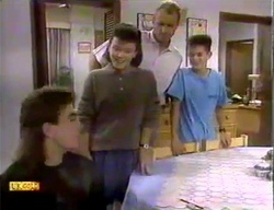 Nick Page, Lucy Robinson, Jim Robinson, Todd Landers in Neighbours Episode 0869