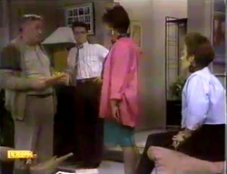 Rob Lewis, Paul Robinson, Gloria Lewis, Gail Robinson in Neighbours Episode 0869