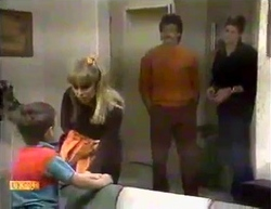 Toby Mangel, Jane Harris, Mark Granger, Joe Mangel in Neighbours Episode 0874
