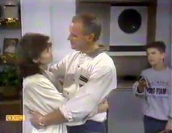 Beverly Marshall, Jim Robinson, Todd Landers in Neighbours Episode 0874