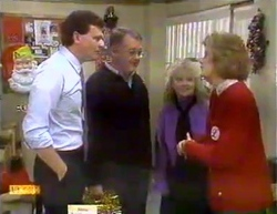 Des Clarke, Harold Bishop, Sharon Davies, Madge Bishop in Neighbours Episode 0875