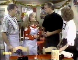 Harold Bishop, Sharon Davies, Jim Robinson, Madge Bishop in Neighbours Episode 0876