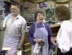 Harold Bishop, Edith Chubb, Madge Bishop in Neighbours Episode 0876