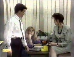 Paul Robinson, Jane Harris, Gail Robinson in Neighbours Episode 0876