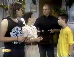 Nick Page, Lucy Robinson, Jim Robinson, Todd Landers in Neighbours Episode 0876