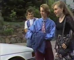 Michael Martin, Mark Gottlieb, Brett Stark, Debbie Martin in Neighbours Episode 2110