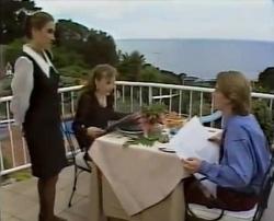 Waiter, Debbie Martin, Brett Stark in Neighbours Episode 2110