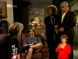 Danni Stark, Brett Stark, Cheryl Stark, Lou Carpenter in Neighbours Episode 2146