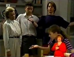 Helen Daniels, Michael Martin, Brett Stark, Debbie Martin in Neighbours Episode 2147