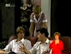 Brett Stark, Danni Stark, Michael Martin in Neighbours Episode 2148